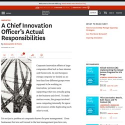 A Chief Innovation Officer's Actual Responsibilities