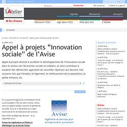 """Appel à projets """"Innovation sociale"""" de l'Avise"""
