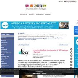Innovation hôtellerie et restauration : IFIZZY participe à EquipLab.