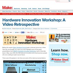 Hardware Innovation Workshop: A Video Retrospective