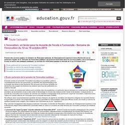 L'innovation, un levier pour la réussite de l'école à l'université