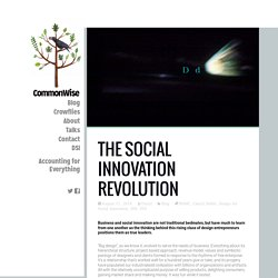 THE SOCIAL INNOVATION REVOLUTION