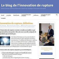 Innovation de rupture, définition