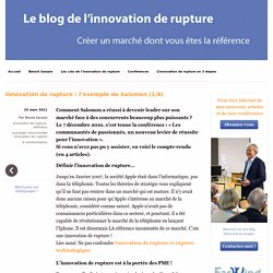 Innovation de rupture : l'exemple de Salomon (1/4)