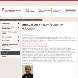 Innovation et numérique en éducation - Actualités- Commission scolaire des Premières-Seigneuries