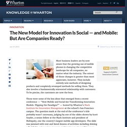 The New Model for Innovation Is Social