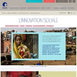 Innovation sociale Danone