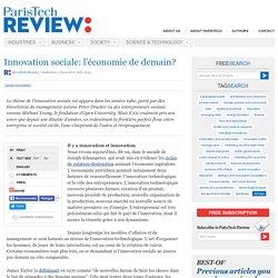 Innovation sociale: l'économie de demain?