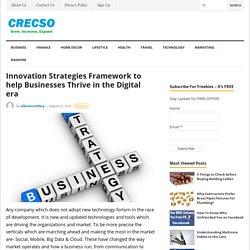Innovation Strategies Framework to help Businesses Thrive in the Digital era