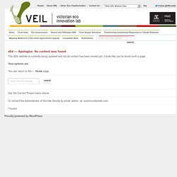 About ReDesign 2032 | VEIL - Victorian Eco-Innovation Lab | Sustainability, Innovation, Research