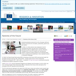 Factories of the Future (FoF) - Research & Innovation - Key Enabling Technologies