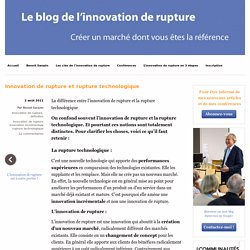 Innovation de rupture et rupture technologique