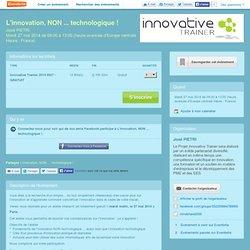 20140527 L'innovation, NON ... technologique !NUMA Paris (ITP Pilot Workshop)