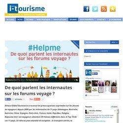 De quoi parlent les internautes sur les forums voyage ?