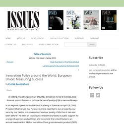 Innovation Policy around the World: European Union: Measuring Success