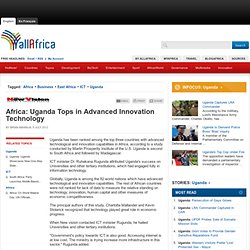 Africa: Uganda Tops in Advanced Innovation Technology