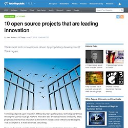 10 open source projects that are leading innovation