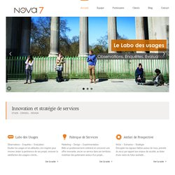 nova7 | études conseil | prospective marketing design | Lyon