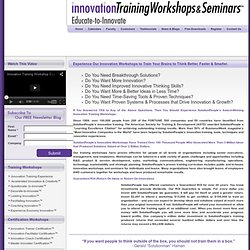 Innovation Training Workshops
