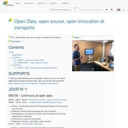 Open Data, open source, open Innovation et transports - Communauté de la Fabrique des Mobilites