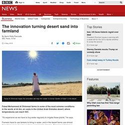 The innovation turning desert sand into farmland