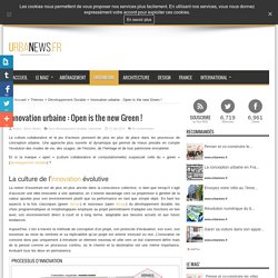 Innovation urbaine : Open is the new Green !