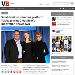 Small-business funding platform Kabbage wins CloudBeat's Innovation Showdown