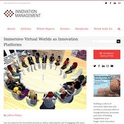 Immersive Virtual Worlds as Innovation Platforms