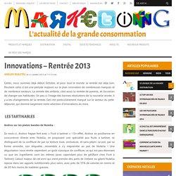 Innovations Alimentaires de la Rentrée 2013