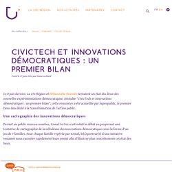 CivicTech et innovations démocratiques : un premier bilan