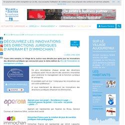 Découvrez les innovations des directions juridiques d'Aperam et d'Immochan !