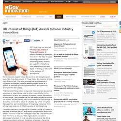HK Internet of Things (IoT) Awards to honor industry innovations