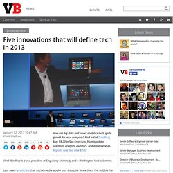 Five innovations that will define tech in 2013