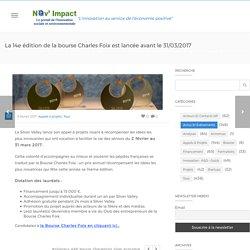 La 14e édition de la bourse Charles Foix est lancée avant le 31/03/2017 - 06/02/17