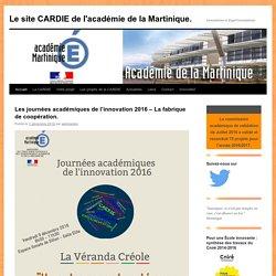 Le site CARDIE de l'académie de la Martinique.