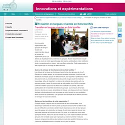 Travailler en langues vivantes en îlots bonifiés - Innovations et expérimentations