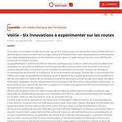Six innovations à expérimenter sur les routes