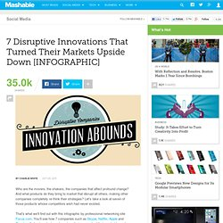 7 Disruptive Innovations That Turned Their Markets Upside Down [INFOGRAPHIC]
