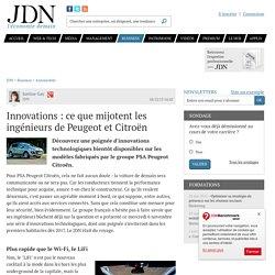 Innovations : ce que mijotent les ingénieurs de Peugeot et Citroën