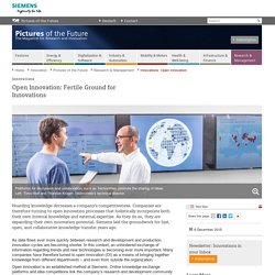 Innovations: Open Innovation - Research & Management - Pictures of the Future - Innovation - Home - Siemens Global Website