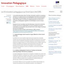 Les 10 innovations pédagogiques qui feront (peut-être) 2015