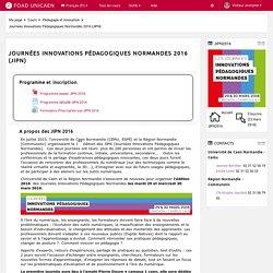 Cours: Journées Innovations Pédagogiques Normandes 2016 (JIPN)