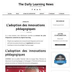 L'adoption des innovations pédagogiques