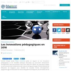 Les innovations pédagogiques en 2016