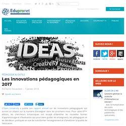 Les innovations pédagogiques en 2017