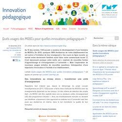Quels usages des MOOCs pour quelles innovations pédagogiques ?