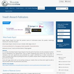 Materials Research Innovations