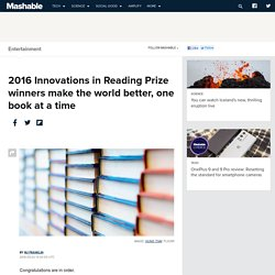 2016 Innovations in Reading Prize winners make the world ...