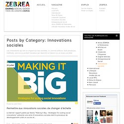 Innovations sociales Archives - ZEBREA
