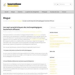 [Fr] 7 caractéristiques des technopédagogues